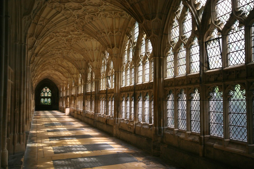 3d Interior Wallpaper Hd Gloucester Cloister Shadows Gloucester Cathedral Or