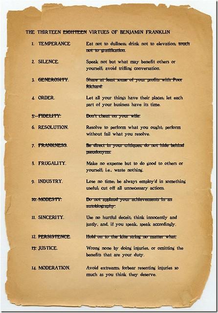 Benjamin Franklin Quotes Wallpaper Ben Franklin S 13 Virtues Wikipedia Link I Remember Once