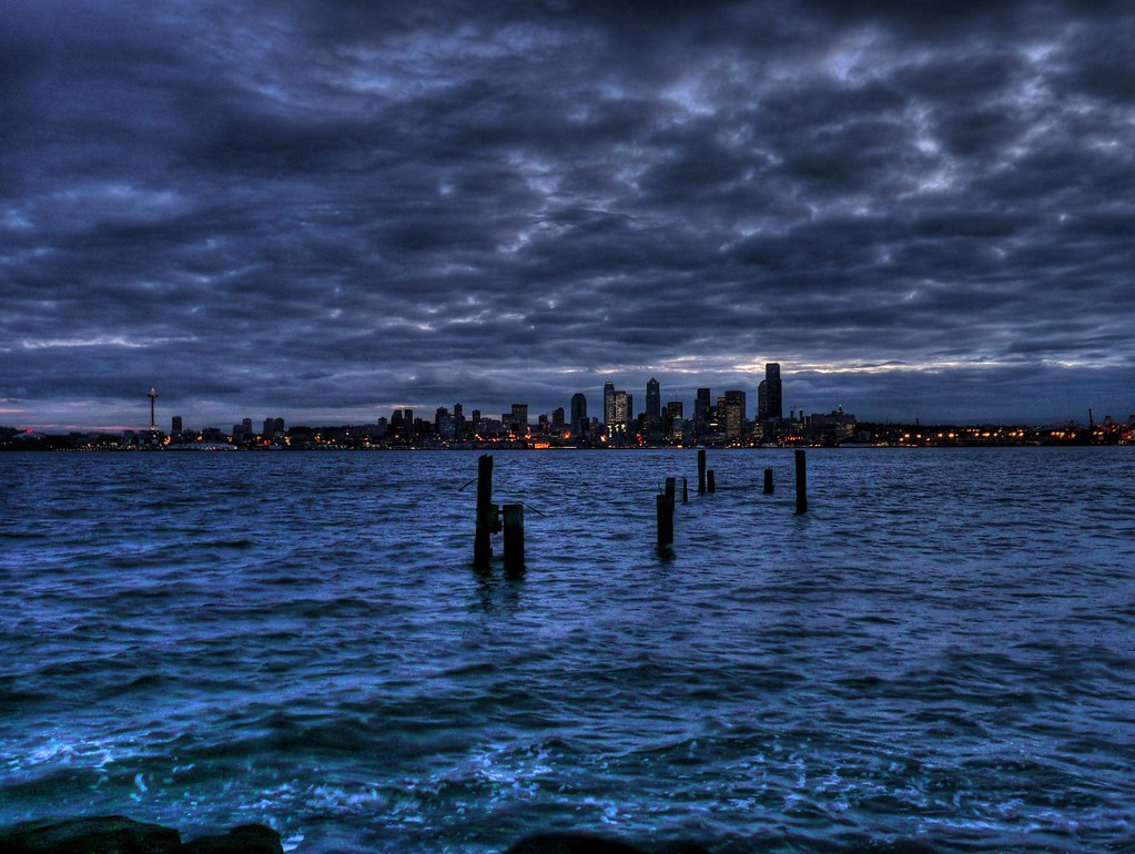 Iphone 7 Water Wallpaper Puget Sound And Seattle From Alki Beach Early One