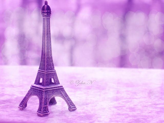 Wallpaper Purple 3d We Love Paris Thank You Daddy For This Souvenir P S