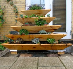 Small Of Pyramid Herb Garden