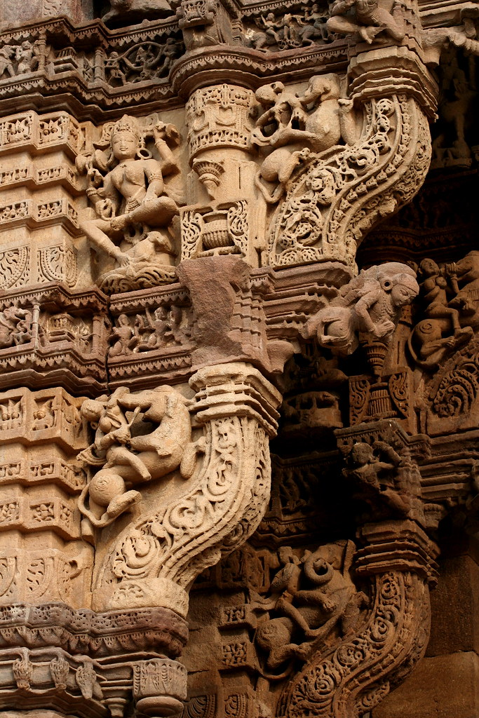 3d Stone Style Wallpaper Asia India Monuments In Gujarat Stone Carvings Of