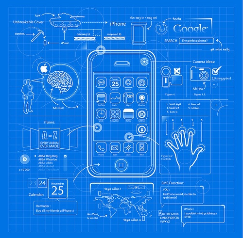 3d Wallpaper On Iphone 6s Iphone Blueprint Parody Jam Zhang Flickr