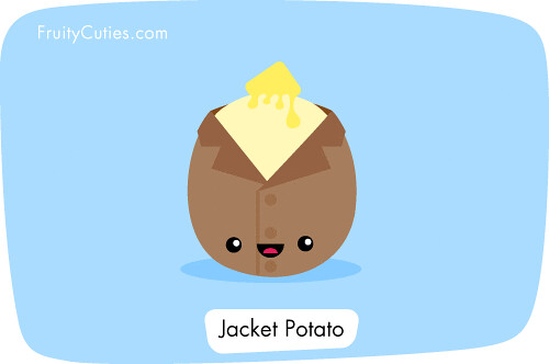 Cute Pineapple Iphone Wallpaper Cartoon Kawaii Jacket Potato It S Dining In Style Flickr