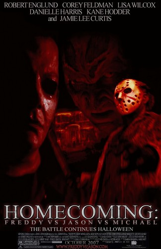 Wallpaper Chucky 3d Homecoming Freddy Vs Jason Vs Michael Movie Poster