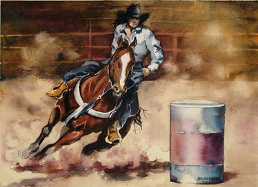 Background Wallpaper Quotes Barrel Racer Watercolor Painting By Margarethe