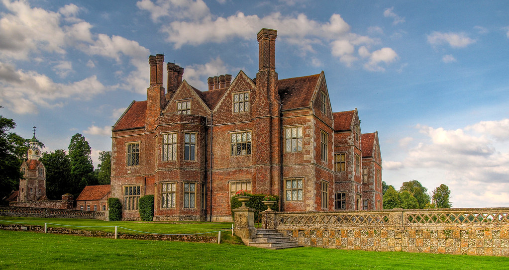 3d Brick Wallpaper White Breamore House In Hampshire An Elizabethan Mansion Built