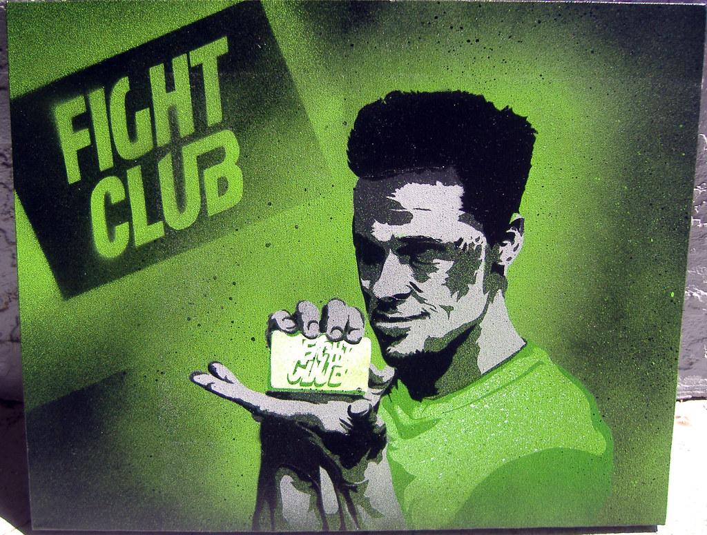 New Iphone Wallpaper Fight Club 7 Layer Stencil Of Brad Pitt From Fight Club