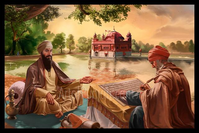 Guru Nanak Dev Ji Hd Wallpaper Guru Arjun Dev Ji The Preparation Of The Guru Granth