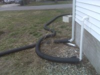 Sump pump hook up to garden hose