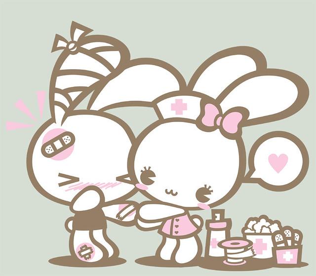 Cute Stitch On Side Wallpaper Nurse Bunny T 225 Dod 243 I Ana Lage Flickr