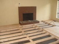 Raised Bamboo Floor 2 | Framing necessary to raise sunken ...