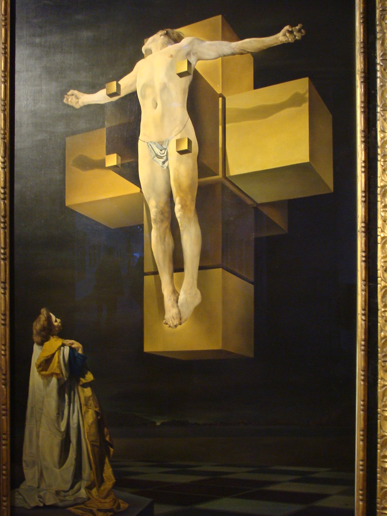 Jesus Christ 3d Wallpaper Salvador Dali S Crucifixion Corpus Hypercubus At The Met