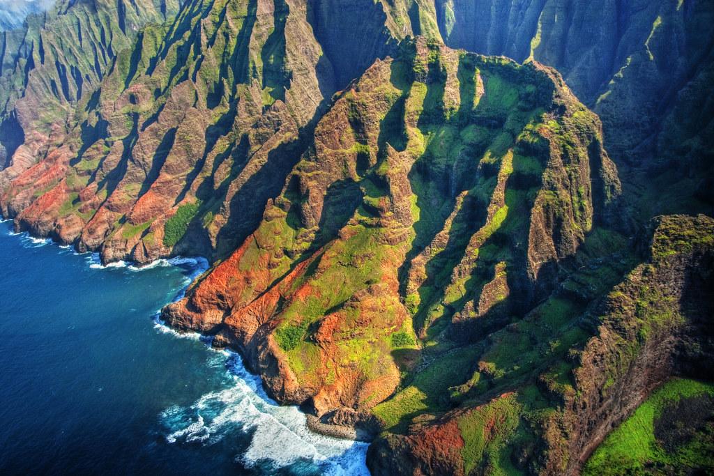 3d Wallpaper Natural Beauty Na Pali Coast Aerial Kauai Hawaii 2 Na Pali Coast