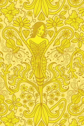 3d Woman Wallpaper Yellow Wallpaper Www Totallysevere Com Sarah Flickr