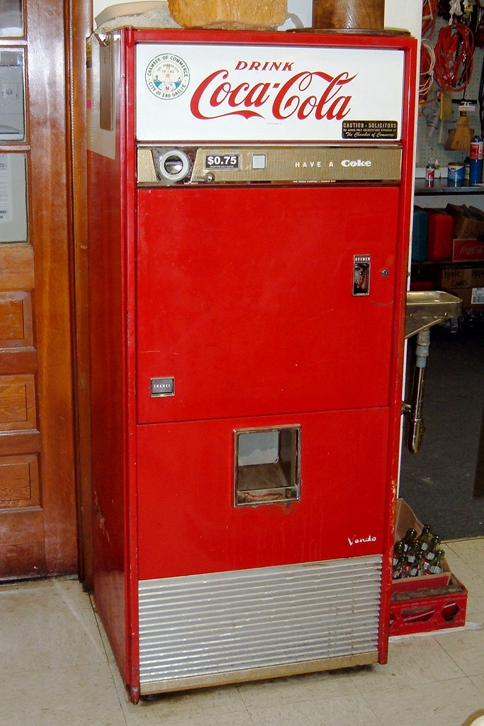 Rustic Furniture Antique Coke Machine | This Coke Machine Is Still