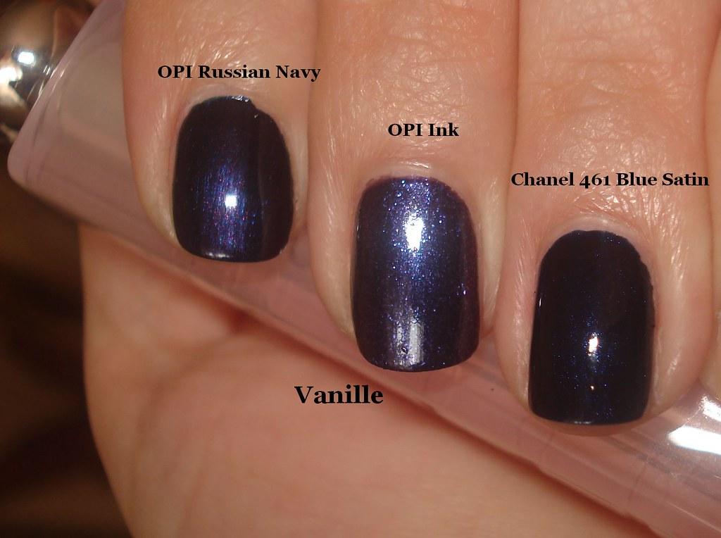 Opi Russian Navy Vs Ink Vs Chanel Blue Satin Y V Flickr