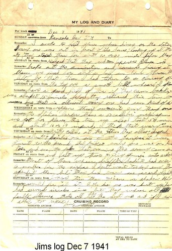 Entry9 My Grandfather S Pearl Harbor Journal Entry My Uncle