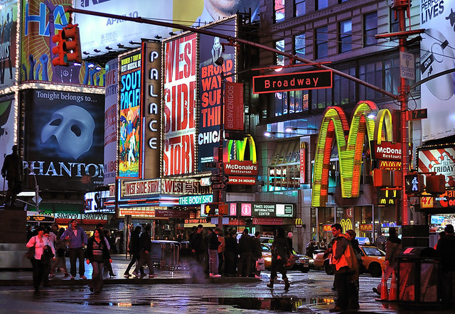 3d Wallpaper New York City Broadway Times Square At Night View This At A Larger