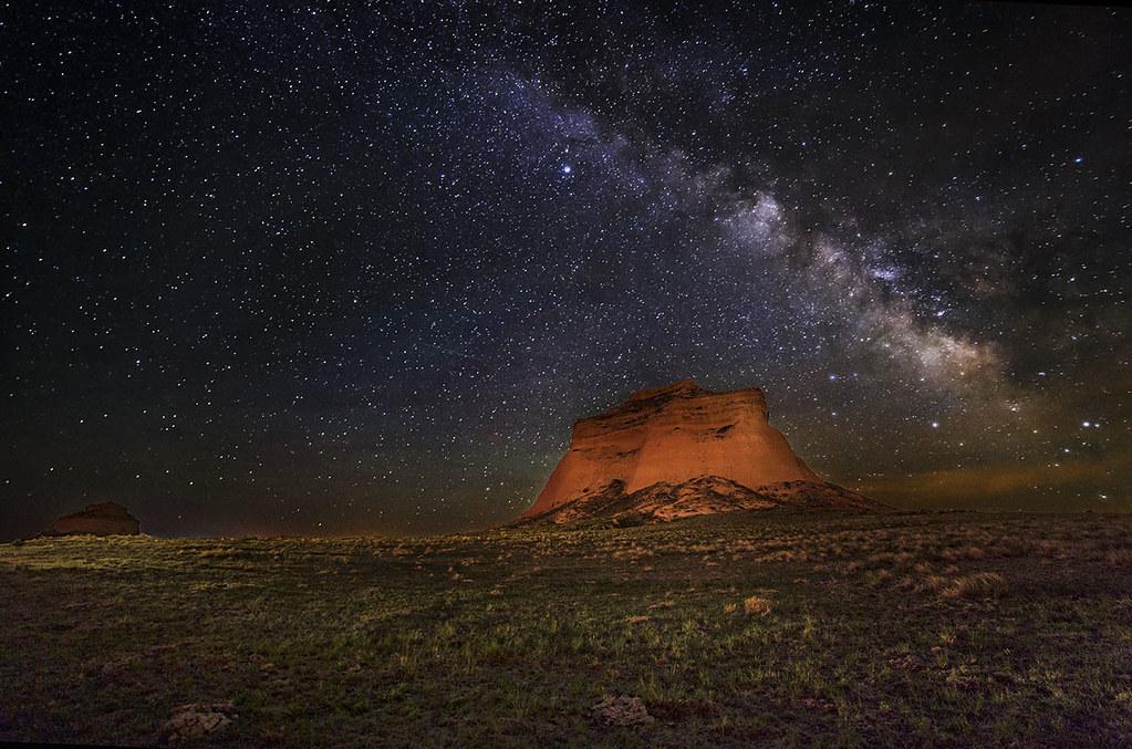 Night Sky 3d Wallpaper Pawnee Butte Under The Milky Way Pawnee Buttes In