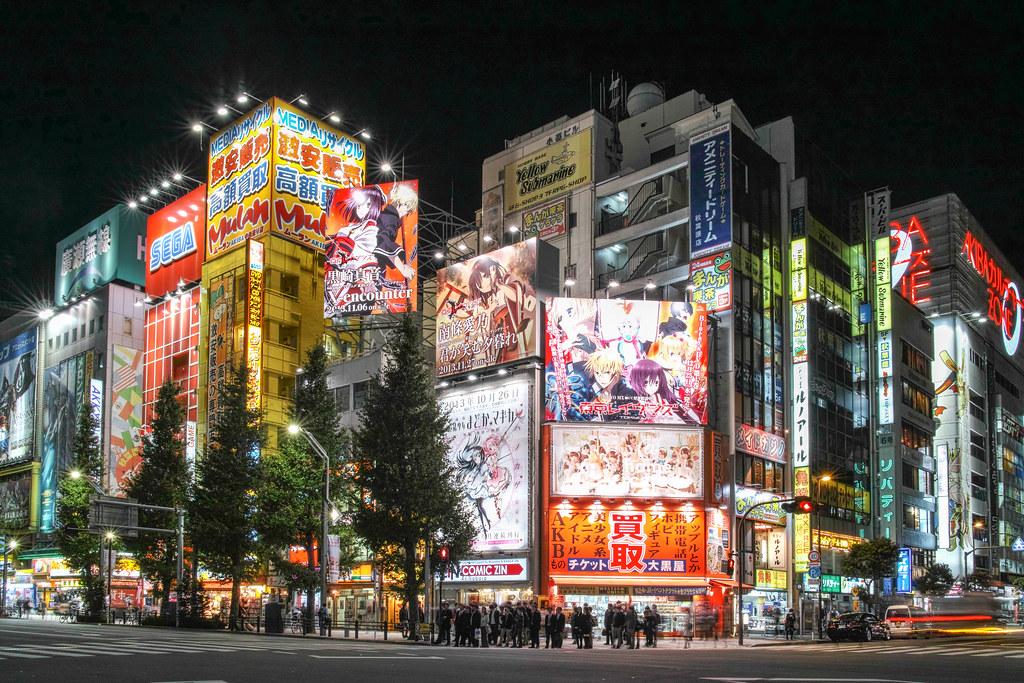 3d Crazy Wallpaper Akihabara Night View 秋葉原 Shinichiro Saka Flickr
