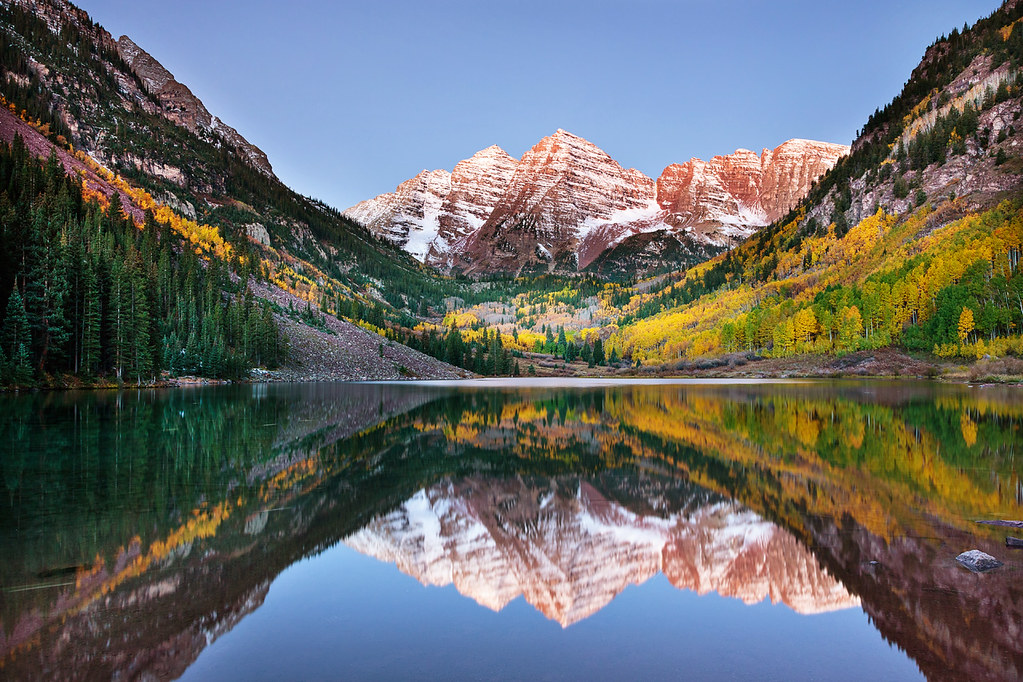 Free Fall Color Wallpaper Alpenglow At Maroon Bells I Finally Got A Website