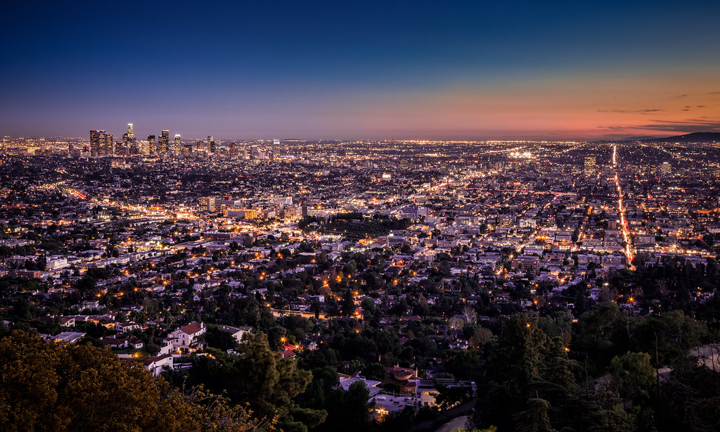 November Fall Wallpaper The Fall Of Night In Los Angeles Overlooking The City Of