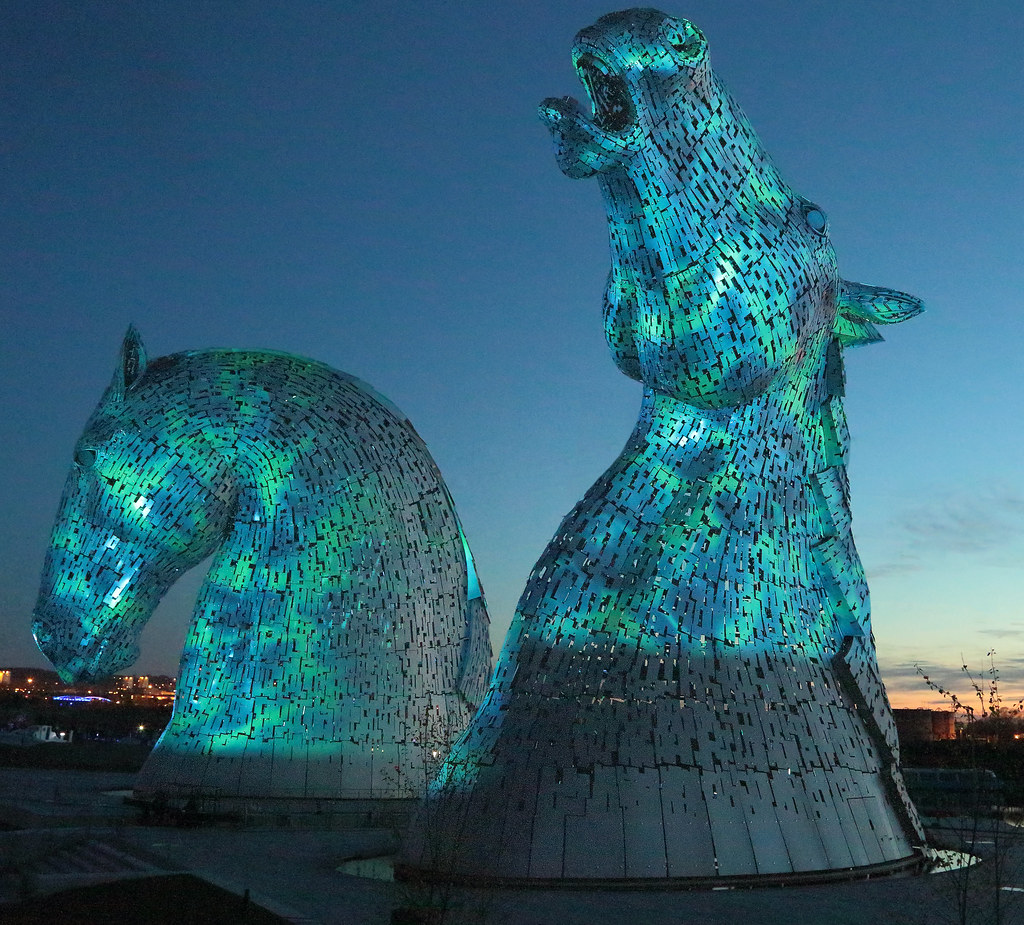 Night Sky 3d Wallpaper The Falkirk Kelpies Another Shot From Last Night