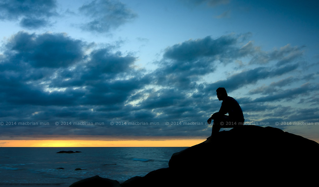 Girl Walking Alone Wallpaper Silhouette Of A Man Sitting Down At Sunset View My Other