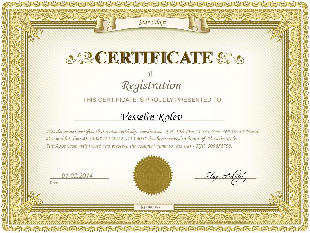 Certificate Template Child  Good Cv For Job Application