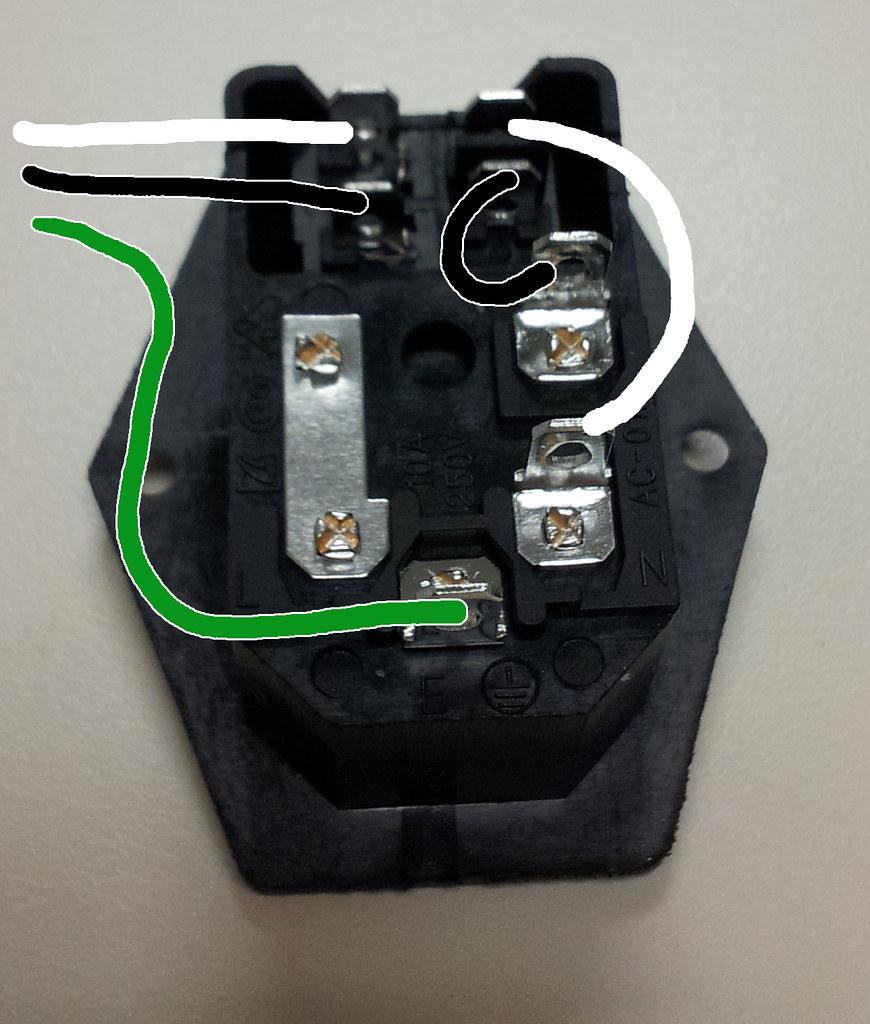 iec socket with switch wiring diagram