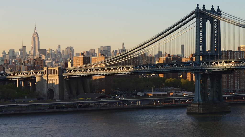 Background Wallpaper Hd 3d Vue Sur Le Pont De Manhattan Depuis Le Pont De Brooklyn