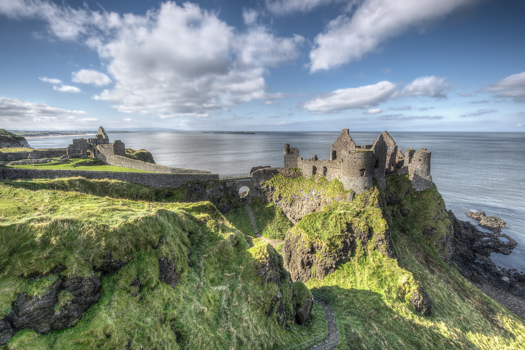 Hd Irish Wallpaper Dunluce Castle Dunluce Castle Is A Now Ruined Medieval