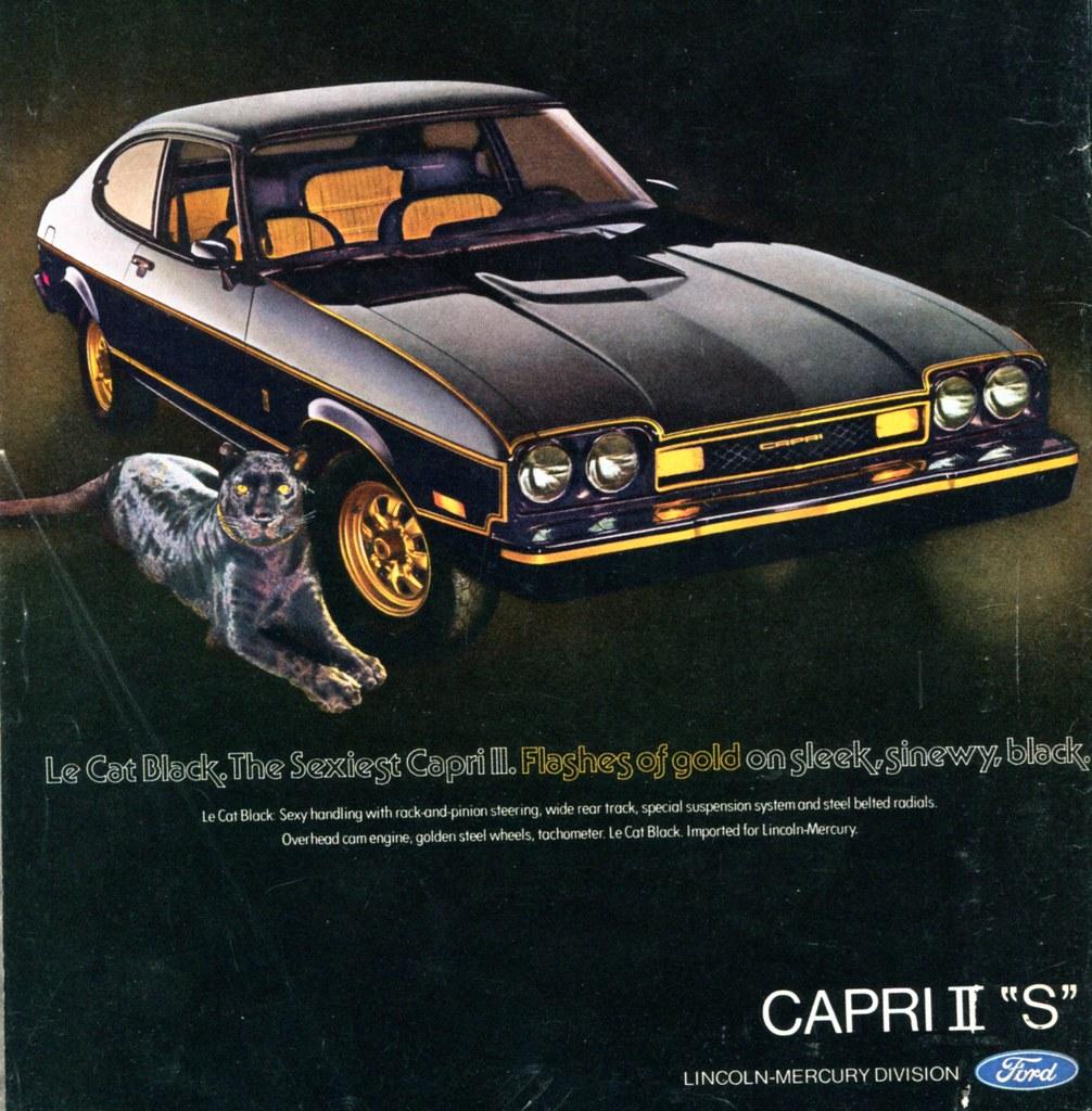 Cat Wallpaper 3d 1976 Ford Mercury Capri Ii S Advertising Road Amp Track Apri