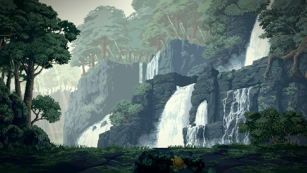 Free Animated Desktop Wallpaper Waterfalls Pixel Art Wallpaper Trabajos De Pixel Art