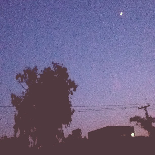 Falling Stars Grunge Wallpaper Gaah Prettypk Tree Moon Blue Sunset Lahore Pakistan