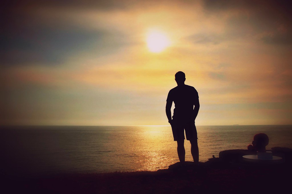Sad Girl Sitting Alone Hd Wallpapers Silhouette Of A Man Explore A Man Watching The Sunrise