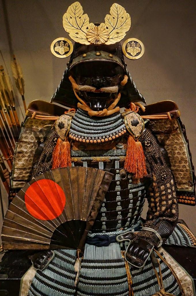 Anime Wallpaper Beautiful Nuinobedō Tōsei Gusoku Armor With War Fan And Gold Paulown