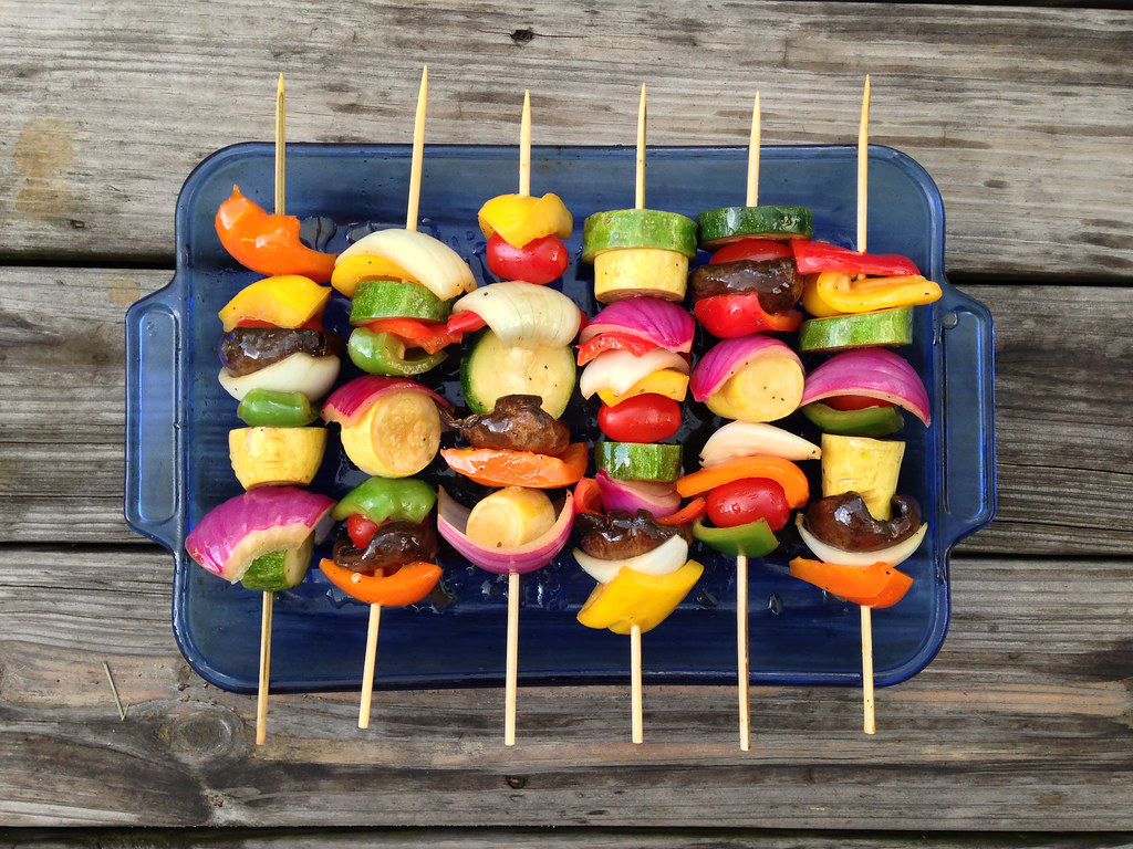 Aperitif Cocktail Veggie Skewers | A Rainbow Of Veggies… For Our Loving Day