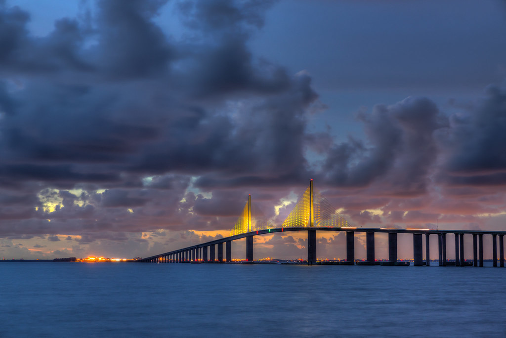 Photo Wallpaper 3d In Tampa Fl Tampa Skyway Bridge Sunset Had The Opportunity To
