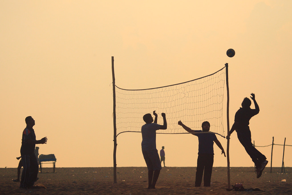 Gym 3d Wallpaper Volleyball At Marina Beach Chennai Clicked This On A