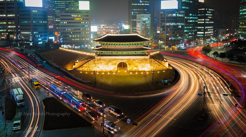 Wallpaper Korea 3d Sungnyemun Gate Namdaemun Gate 숭례문 Sungnyemun Gate