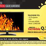descuento televisor TCL La curacao Guatemala
