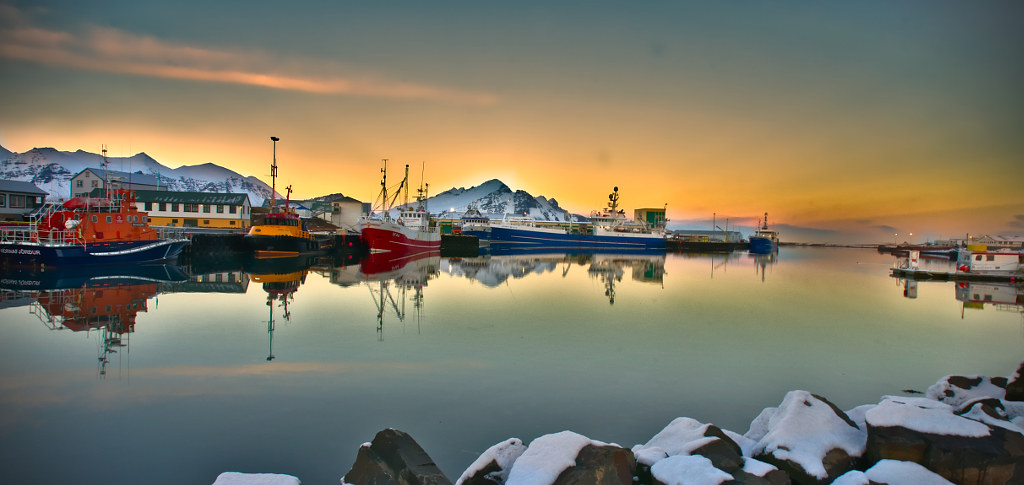 Wallpaper Sunset 3d Sunset On Hofn Harbour Iceland Like It On 500px 500px