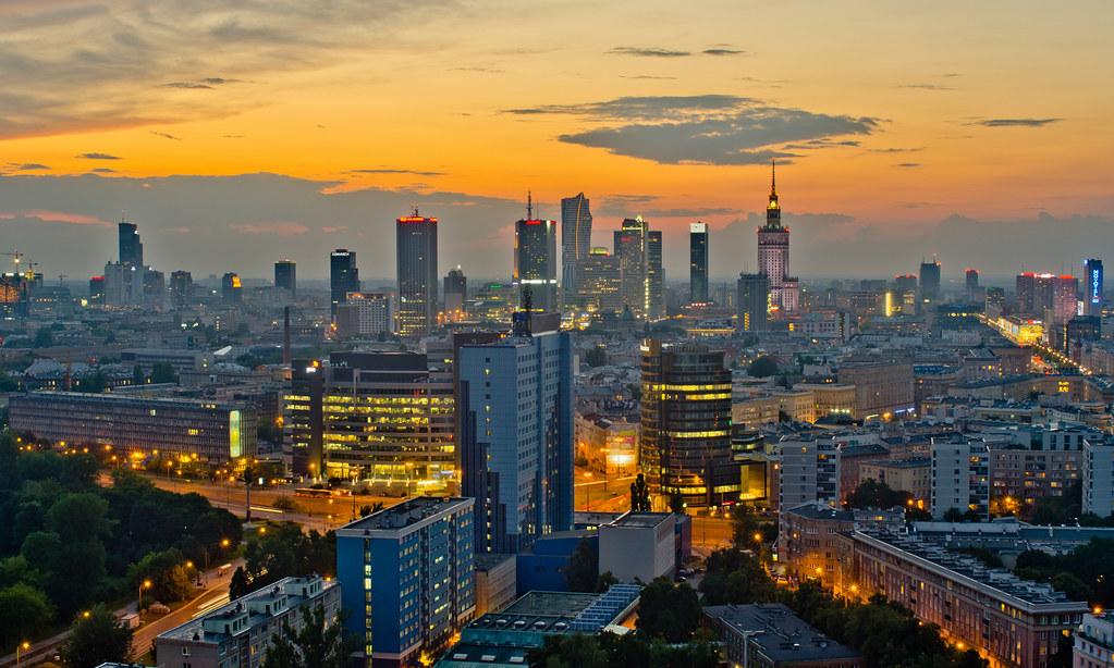 3d Roof Wallpaper Warsaw Skyline Poland Sebastian Deptula Flickr