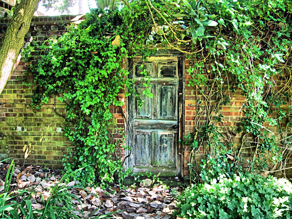3d Door Wallpaper The Door Into The Secret Garden In Kew Gardens London