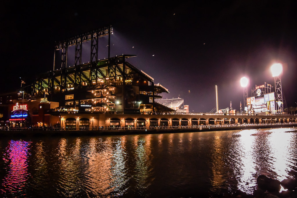 New 4k 3d Hd Wallpaper At Amp T Park With Mccovey Cove At Night San Francisco Ca