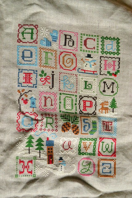Christmas Alphabet cross-stitch