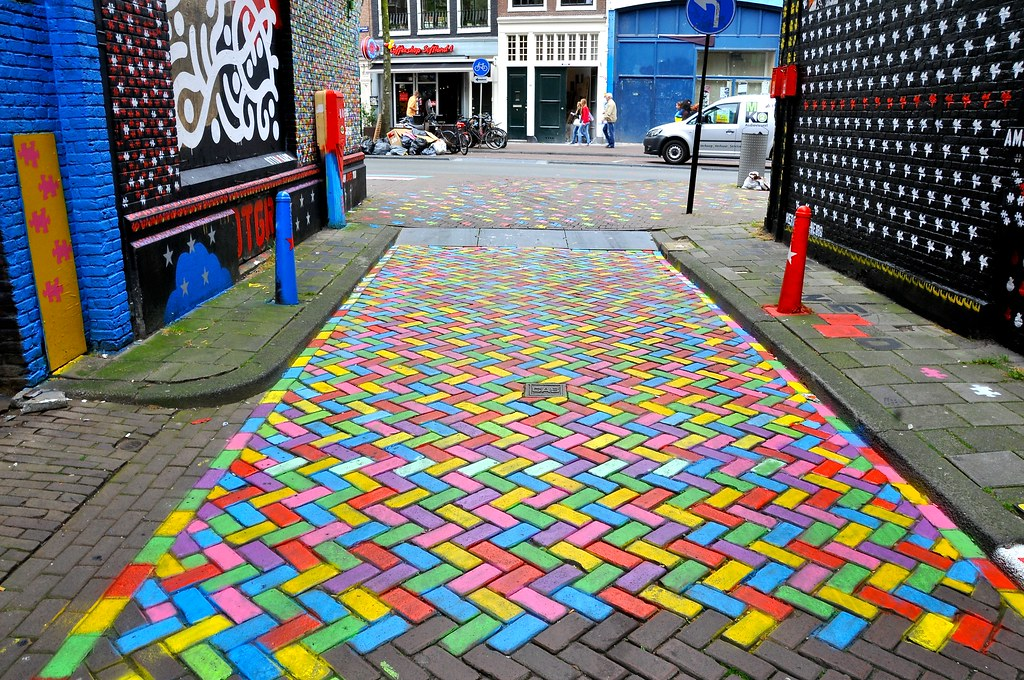 3d Street Art Wallpaper Mural Wijdesteeg Amsterdam Facemepls Flickr