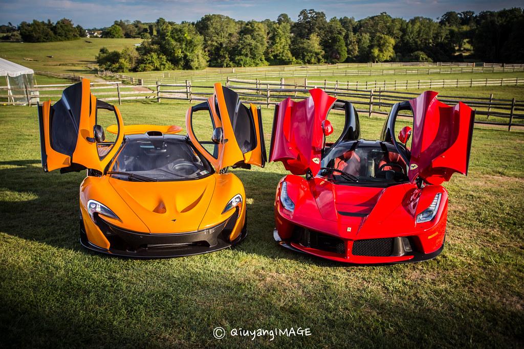 3d Car Wallpaper 1366x768 Mclaren P1 Amp Ferrari Laferrari 2014 Radnor Hunt Concours